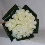 Akito Rose Hand Tied with Aspidstra Leaf