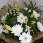 All White and Cream Hand Tied Bouquet