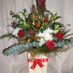 Christmas Arrangement in a Gift Bag