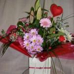 Gift Bag Arrangement Mixed Flowers
