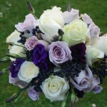 Hand Tied Bouquet, Roses and Eustoma
