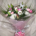 Pink and White Aqua Bouquet