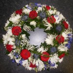 Red Purple and White Wreath