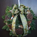 Spruce Door Wreath Fully Decorated