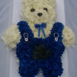Teddy bear with dungarees