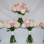 Brides and Bridesmaids Hand Tied Bouquets