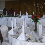 Winter Table Centre Setting