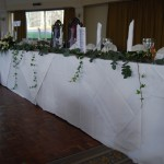 Top Table Arrangement and Garlands