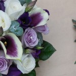 Calla and Rose Hand Tie with matching Buttonhole