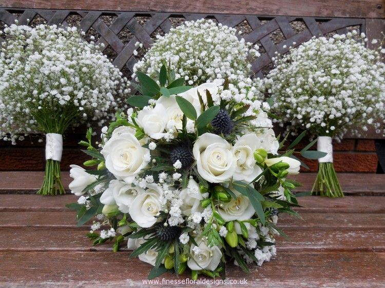 Bride and Bridemaids Hand Tied Bouquets